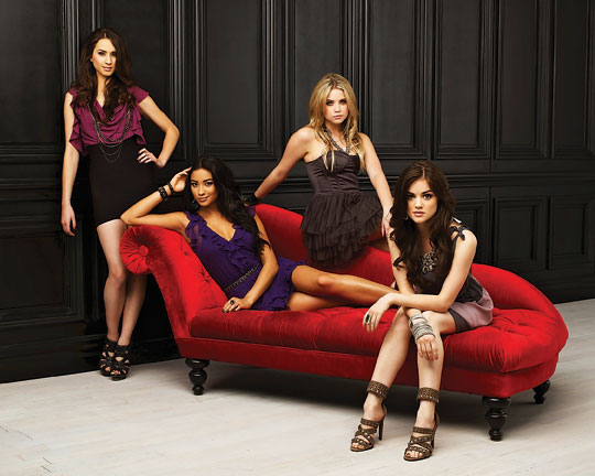 "Troian Bellisario, Shay Mitchell, Ashley Benson and Lucy Hale star in ""Pretty Little Liars,"" premiering tonight on ABC Family."