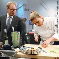 Alton Brown watches over Next Iron Chef