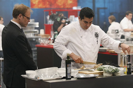 Alton Brown Watches culinary magic on The Next Iron Chef