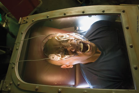 A patient in the Fear Chamber