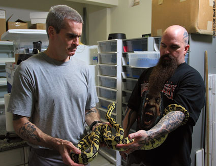 Henry Rollins, Kerry King and a snake