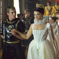 Jonathan Rhys Meyers and Natalie Dormier in Season 1 of The Tudors
