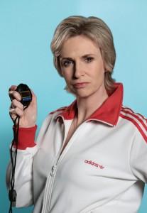 "Jane Lynch stars as Coach Sue Sylvester in FOX's ""Glee"""
