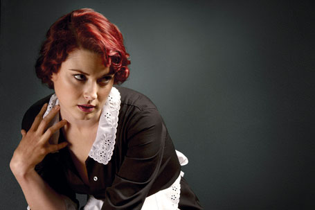 """Alexandra Breckenridge is the young maid Moira in """"American Horror Story"""""""
