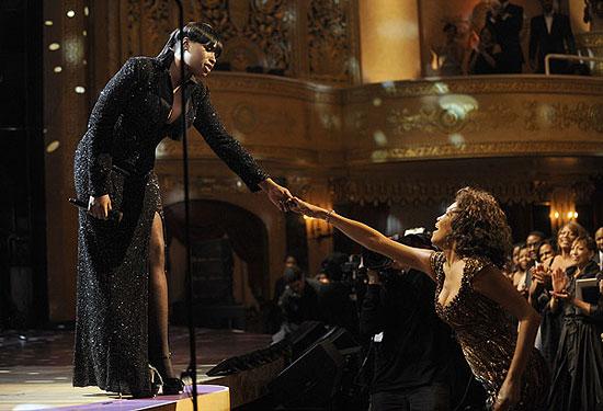 Jennifer Hudson and Whitney Houston at the 2010 BET Honors