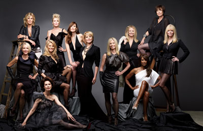 """HBO's """"About Face: Supermodels Then and Now"""" culminates in a bi-coastal group photo shoot featuring more than a dozen of the world's top fashion models including Hansen, Marshall, Tiegs, Johnson, Taylor, Emerg, Alt, Bjornson, Haddon, Brinkley, Donahue, Alexis"""