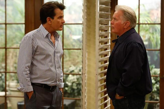"""Martin Sheen drops by to visit his son Charlie Sheen in an episode of FX's """"Anger Management."""""""