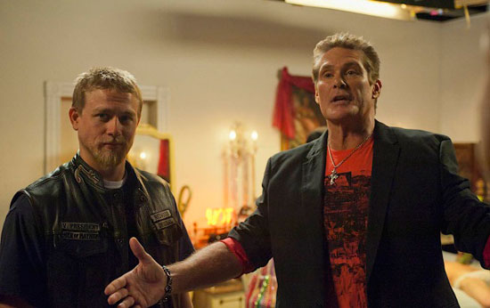 """David Hasselhoff stars in a Season 4 episode of """"Sons of Anarchy."""""""