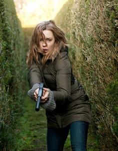 "Melissa George plays Sam Hunter in Cinemax's original series, ""Hunted."""