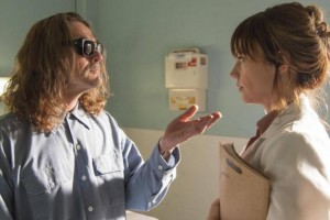 """Kurt Sutter and Maggie Siff share a scene in """"Small World,"""" the latest episode of FX's """"Sons of Anarchy"""""""