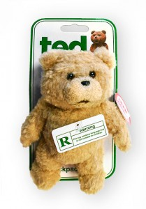 Ted backpack clip toy
