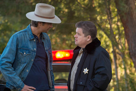 """Timothy Olyphant and Patton Oswalt star in Season 4 of FX's """"Justified."""""""
