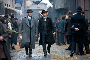 Matthew Macfadyen and Adam Rothenberg in BBC America's Ripper Street