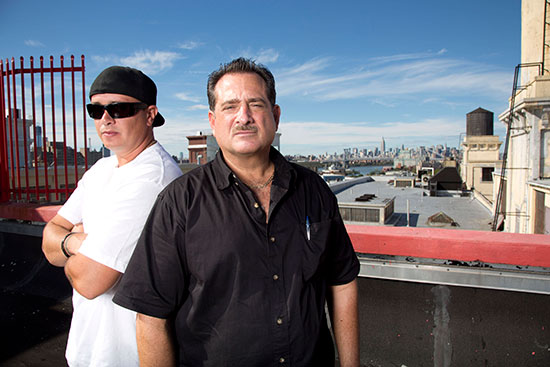 "Mike Braiotta and John Luke star in A&E's new reality spinoff ""Storage Wars: New York."""
