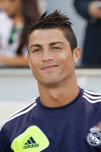 Real Madrid striker Cristiano Ronaldo. Real Madrid faces Manchester United in Champions League Round of 16 match on Feb. 13, 2013.