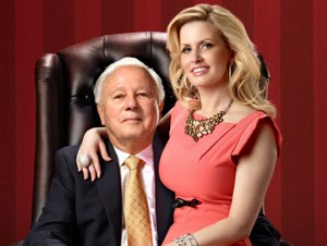 "Edwin Edwards and Trina Edwards in A&E's ""The Governor's Wife"""