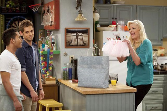 """Tahj Mowry, Jean-Luc Bilodeau, Melissa Peterman in ABC Family's """"Baby Daddy"""""""