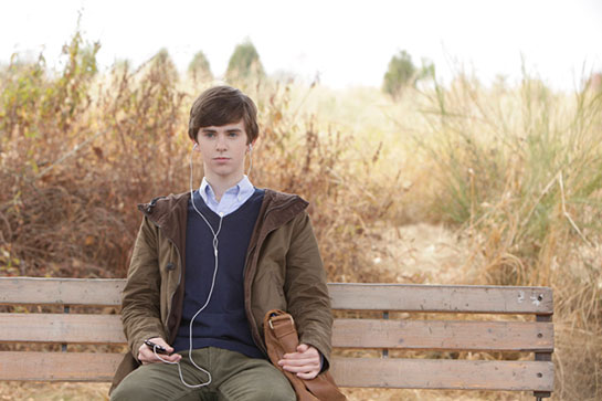"""Freddie Highmore as Norman Bates in A&E's """"Bates Motel"""""""