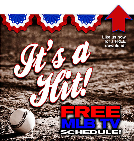 graphic relating to Atlanta Braves Tv Schedule Printable called Absolutely free MLB Television set plan printable model