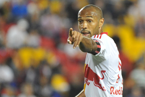 New York Red Bulls striker Thierry Henry