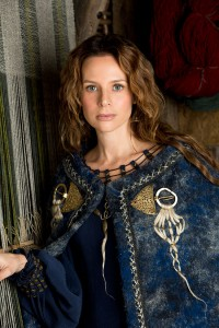"Jessalyn Gilsig as Siggy in History's ""Vikings"""
