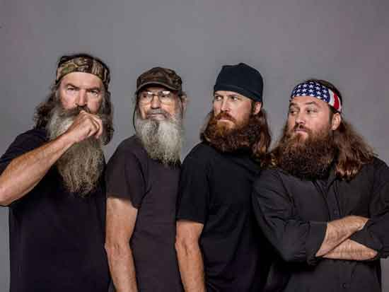 Phil Robertson, Si Robertson, Jase Robertson, Willie Robertson A&E Duck Dynasty