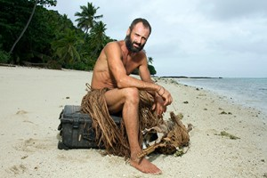 Ed Stafford in Naked Castaway on Discovery Channel