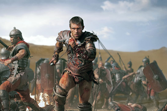 """Liam McIntyre """"Spartacus: War of the Damned"""" Starz"""