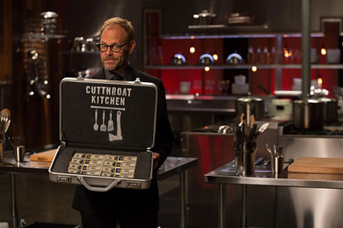 Alton Brown hosts Cutthroat Kitchen Sunday nights on Food Network.