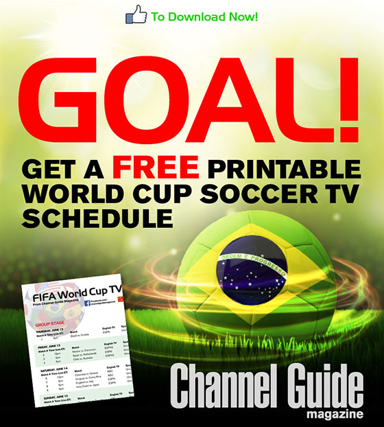 picture regarding Diamondbacks Schedule Printable known as Absolutely free FIFA World-wide Cup 2014 Tv set timetable printable variation