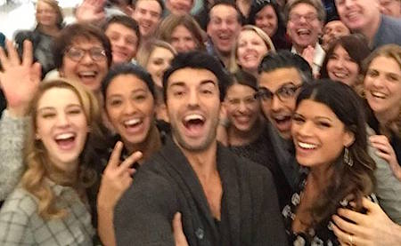 Jane the Virgin cast on the CW hit's set