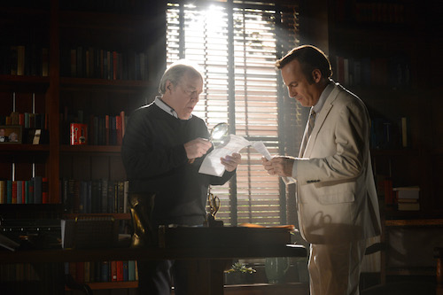 Michael McKean as Chuck McGill and Bob Odenkirk as Jimmy McGill in Better Call Saul episode 8