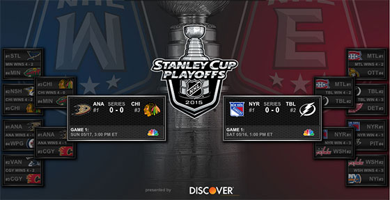 NHL Stanley Cup 2015 conference finals TV schedule