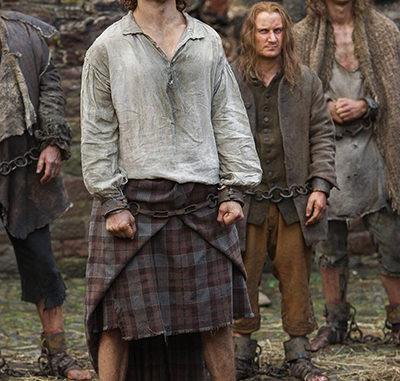 Outlander episode 15 Jamie in prison