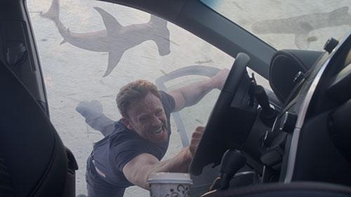 """Ian Ziering, here in a scene from """"Sharknado 3,"""" is back in """"Sharknado 4."""""""