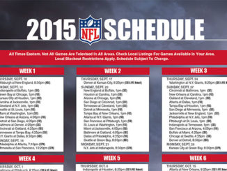 2015 NFL TV schedule