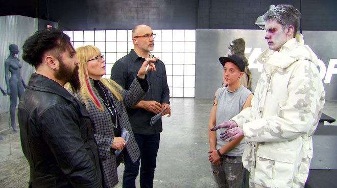 Face Off season 9 episode 8 Nora judges round 1