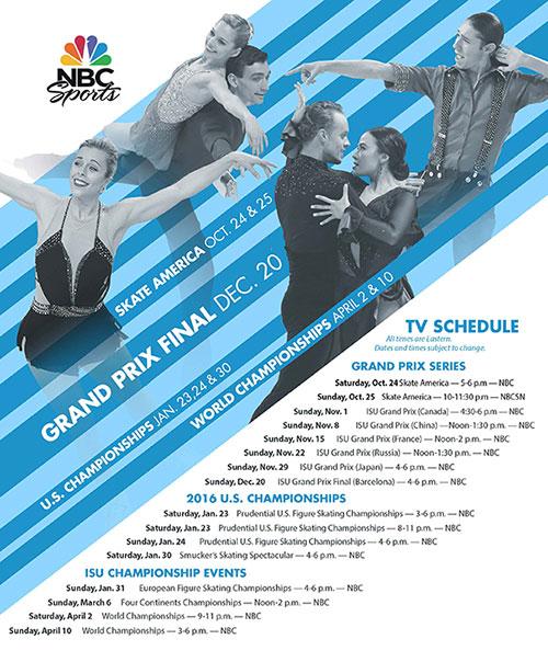 2015-16 Figure Skating TV Schedule