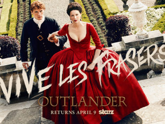 Outlander season 2 art of Claire and Jamie in France