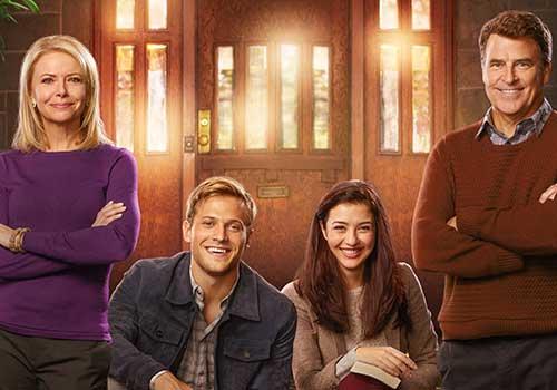 Faith Ford, Wyatt Nash, Katie Findlay and Ted McGinley star in Karen Kingsbury's The Bridge.