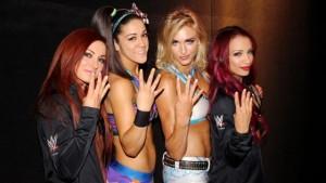 Sahsa Banks, Charlotte, Bayley, Becky