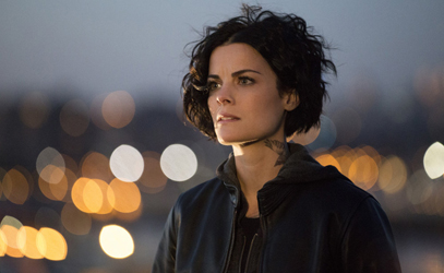 """BLINDSPOT -- """"Scientists Hollow Fortune"""" Episode 112 -- Pictured: Jaimie Alexander as Jane Doe -- (Photo by: {Paul Sarkis/NBC)"""
