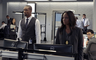 """BLINDSPOT -- """"Erase Weary Youth"""" Episode 113 -- Pictured: (l-r) Rob Brown as Reade, Afton Williamson as Agent Sloane -- (Photo by: Giovanni Rufino/NBC)"""