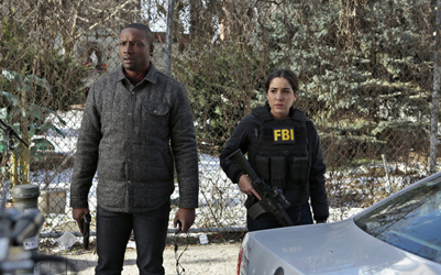 "BLINDSPOT -- ""Older Cutthroat Canyon"" Episode 115 -- Pictured: (l-r) Rob Brown as Edgar Reed, Audrey Esparza as Tasha Zapata -- (Photo by: Giovanni Rufino/NBC)"
