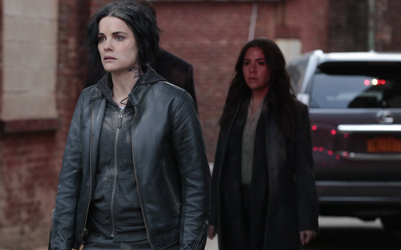 "BLINDSPOT -- ""Older Cutthroat Canyon"" Episode 115 -- Pictured: (l-r) Jaimie Alexander as Jane Doe, Audrey Esparza as Tasha Zapata -- (Photo by: Giovanni Rufino/NBC)"