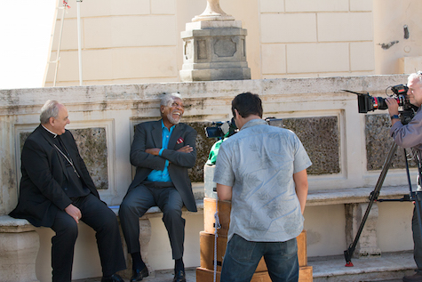 The Story of God with Morgan Freeman filming