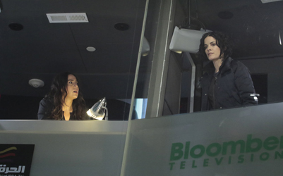 "BLINDSPOT -- ""Any Wounded Thief"" Episode 116 -- Pictured: (l-r) Audrey Esparza as Tasha Zapata, Jaimie Alexander as Jane Doe -- (Photo by: Giovanni Rufino/NBC)"
