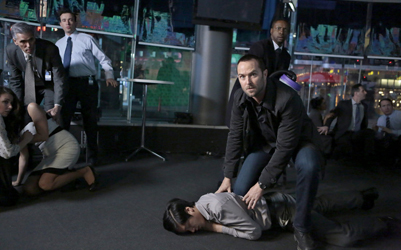 "BLINDSPOT -- ""Any Wounded Thief"" Episode 116 -- Pictured: (l-r) Sullivan Stapleton as Kurt Weller, Rob Brown as Edgar Reed -- (Photo by: Giovanni Rufino/NBC)"