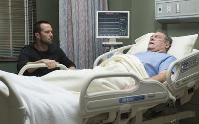 "BLINDSPOT -- ""One Begets Technique"" Episode 118 -- Pictured: (l-r) Sullivan Stapleton as Kurt Weller, Jay O. Sanders as Bill Weller -- (Photo by: Peter Kramer/NBC)"