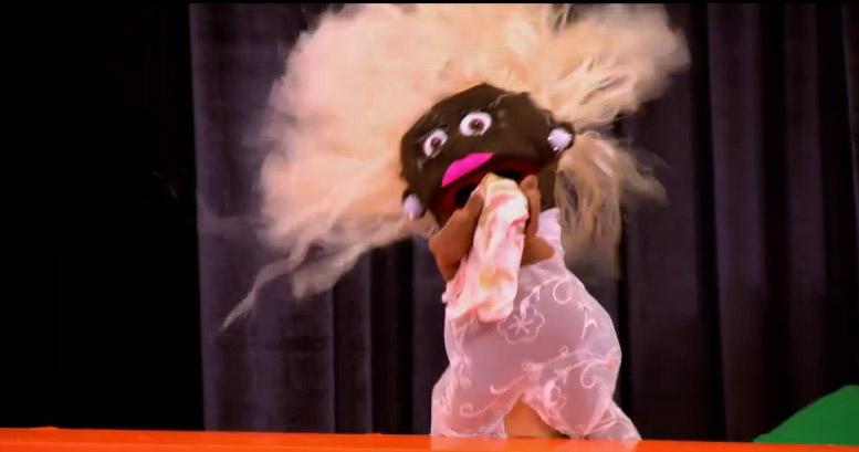 Bob's puppet has a purse RuPaul's Drag Race season 8 episode 8